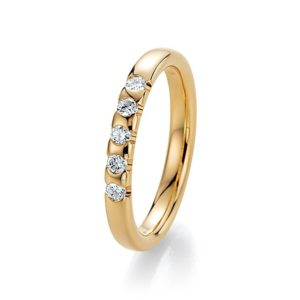 Goldener Ring mit Steinen