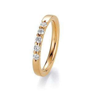 Goldener Ring mit 5 Steinen