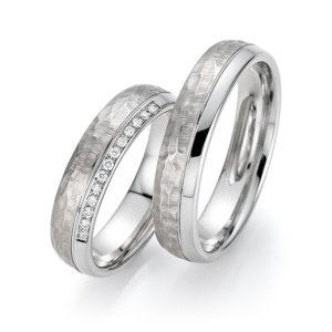 Silberne Eheringe