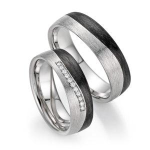 Silberschwarze Eheringe