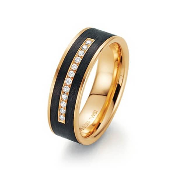 Schwarzgoldener Ring