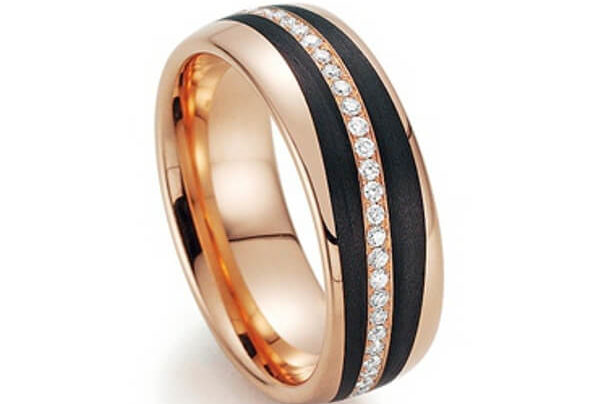 Goldschwarzer Ring