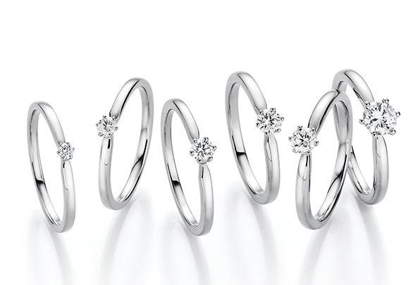 Silberne Ringe mit Diamanten